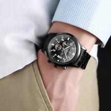 Мужские Роскошные Кварцевые наручные часы мужские повседневные