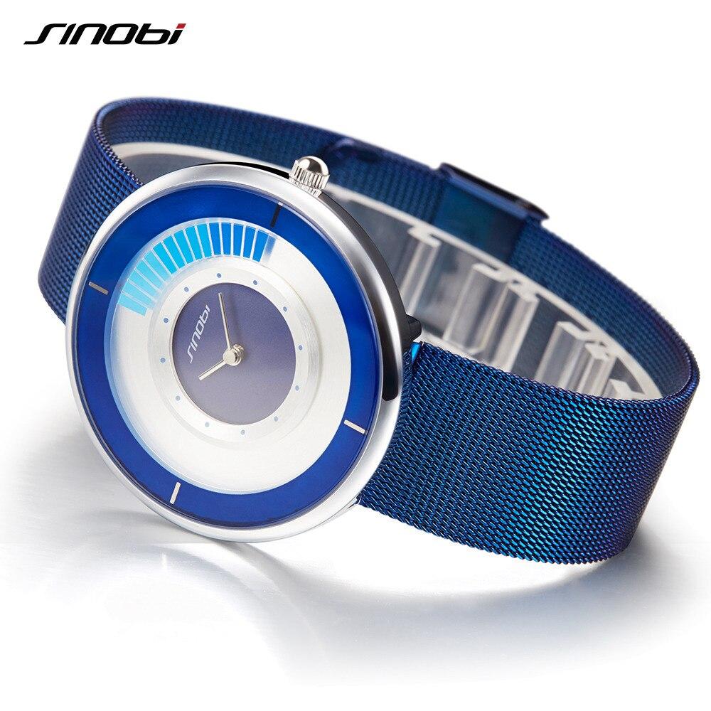 SINOBI Women Bracelet Wristwatches Relogio Masculino Luxury Brand Men's Watches 2018 Fashion Creative Gold Ladies Quartz Watch