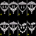 Eurpean Style Handmade Imitated Pearl Bridal Jewelry Sets Crystal Wedding Jewelry Sets Necklace+Earrings+Tiara 8 Type For Women