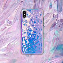 Plating diamond pattern phone case For iphone XS MAX XR X 6 6s 7 8plus luxury IMD soft shell capa back cover