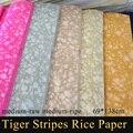 Новая рисовая бумага в полоску с тигром  цветная рисованная бумага Xuan для каллиграфии  школьные товары