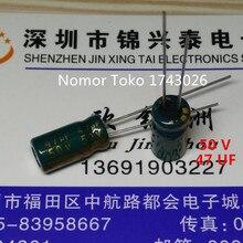 Pengiriman gratis 50 pcs/lot 50 V 47 UF 6*11mm  6mmX11mm Aluminum electrolytic capacitor ic …