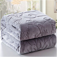NEW Winter Bedding Blankets 100 Microfiber Emboss Home Blanket Travel Picnic Anti Pilling Textile Cute Plush