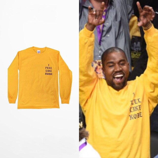 2016 Yeezy Kanye West Eu Me Sinto Como o Kobe comemorar T camisa de manga longa
