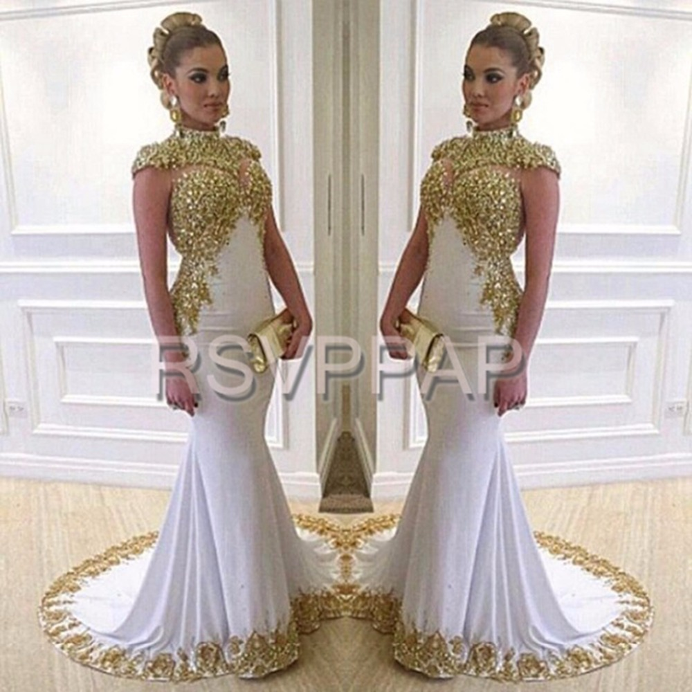 Aliexpress Com Buy White Formal Evening Gowns Dresses