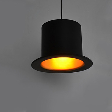 Luminaire LED Top Hat Modern Pendant Lights Lamp,1 Light, European Style Black Aluminum Metal Painting Free Shipping free shipping cy041 loft vintage style metal painting home pendant lights lamp page 6