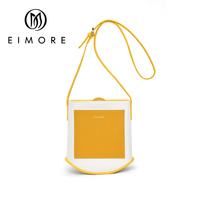 EIMORE Brand Women Messenger Shoulder Bags Canvas & Genuine Leather Bag for Ladies Crossbody Bags Girs Bag Yellow Yoth Trendy