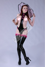 New Arrival Luxury Latex Stockings with frill band Black Latex Long Stocking Body Sock Rubber Legging Sock