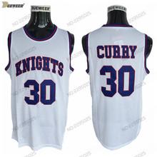 f48c3dd7106d DUEWEER Mens Charlotte Christian Knights Stephen Curry High School  Basketball Jerseys HS White 30 Stephen Curry