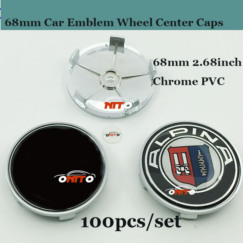 wholesale 100pieces Top Quality Car Wheel Center Caps 68mm Badge Emblems For E60 E90 F10 F30