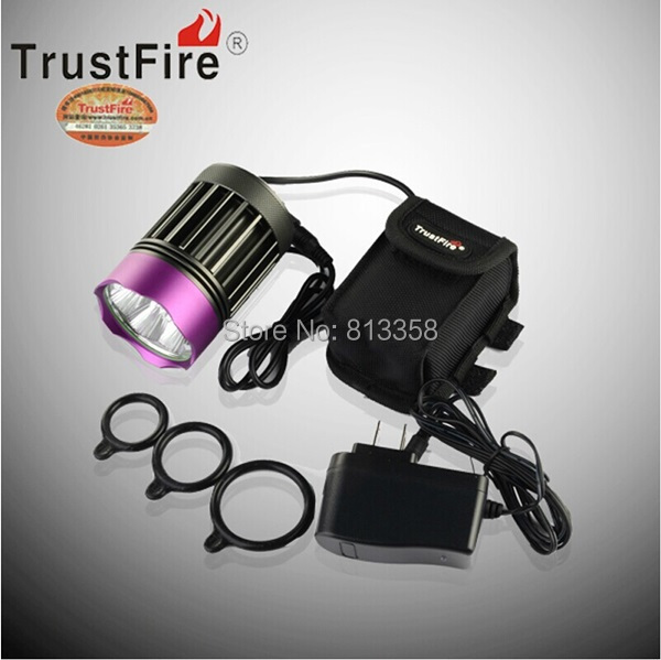 Free shipping TrustFire TR-D014 7 X CREE XM-L2 LED headlights 3 Mode 3200Lm Bicycle Light(1SET)