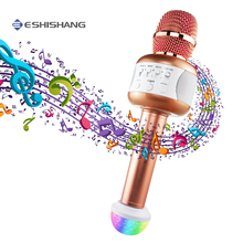 Bluetooth Microphone Professional Wireless Karaoke Microphone With Speaker Handheld Mic Condenser For Party KTV Singing