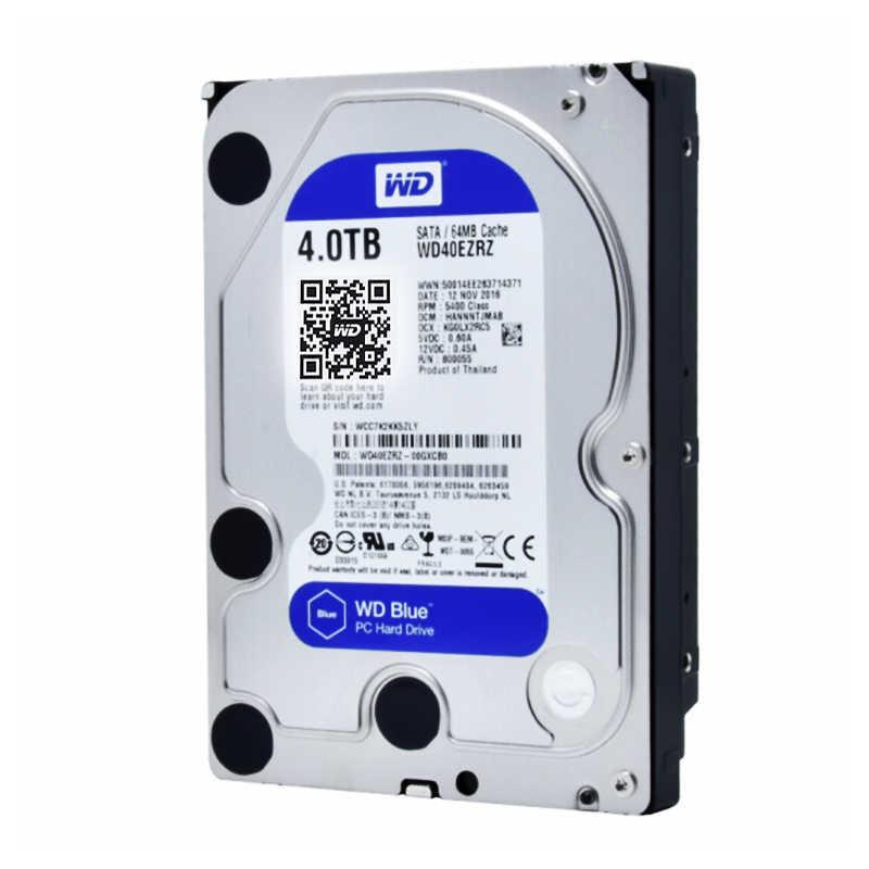 WD ويسترن ديجيتال قرص صلب الأزرق 4 تيرا بايت Hdd Sata 3.5 ''الداخلية القرص الصلب القرص الصلب Disque الدر سطح المكتب HDD ل PC
