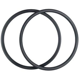 """Image 1 - 29er AM אנדורו אופני הרי 35mm אסימטרית נימוק מכריע ללא פנימית פחמן חישוקים 24H 28H 32H 36H א. ד. 3K 12K 3.5mm אופסט 29 """"MTB גלגל"""