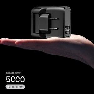 Image 5 - EU/US 접이식 플러그 2 in 1 USB 충전기 전원 은행 5000mah 자동 전원 끄기 빠른 충전 Powerbank 듀얼 USB 외부 배터리