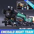LEPIN 21005 Creador de la serie de la Esmeralda Noche modelo building blocks set Classic compatible los trenes de Vapor Juguetes de Regalo de Navidad