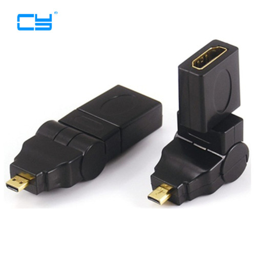 HDMI Cable Adapter 360 Degree 90 Angle HDMI Female to Mini micro HDMI Male Connector for 1080p 3D TV LCD HDTV Camera Tablet PC