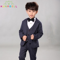 Children Performance Clothes Brand Boys Formal Suits Wedding Birthday Party Tuxedo Jacket Waistcoat Shirt Pant Kids
