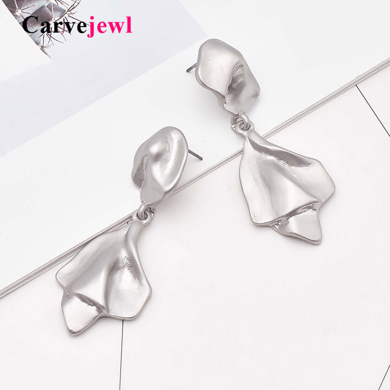 Carvejewl metal wind earrings simple unique irregular geometric pendant drop dangle fashion Hiphop wholesale
