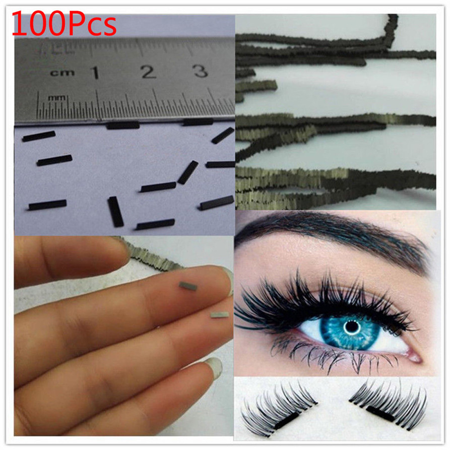 100Pcs Reusable Magnet Sheet For 3D Magnetic False Eyelashes Extension Handmade Drop Shipping 1016