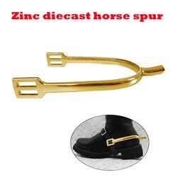 O envio gratuito de Zinco fundição espora cavalo, cor dourada. equipamento Equestre. equitação esporão (SP6104ZG)