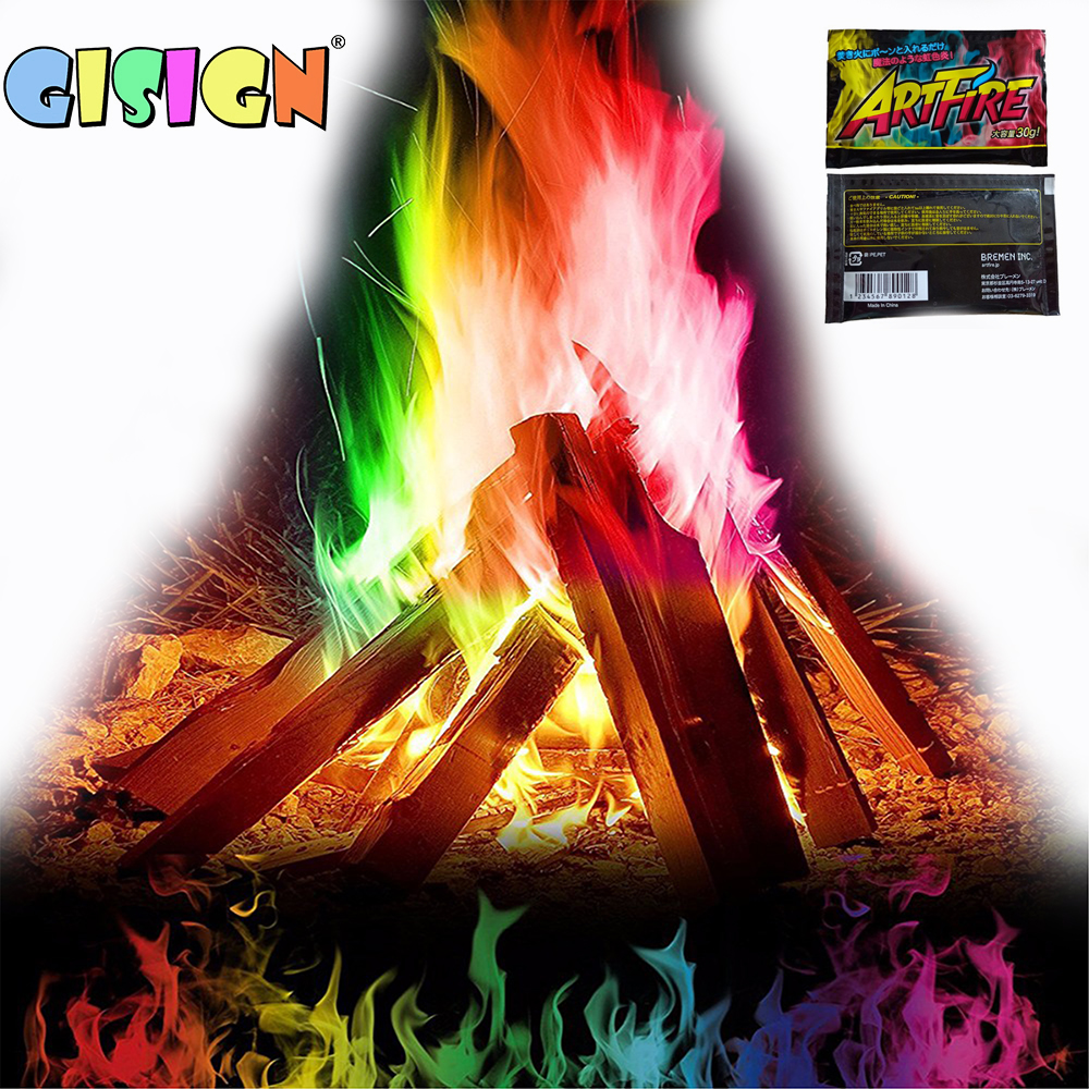 Mystical Fire Magic Tricks Colorful Flames Powder Toys For Camping  Bonfire Sachets Fireplace Pit Profesional Magic Pyrotechnics