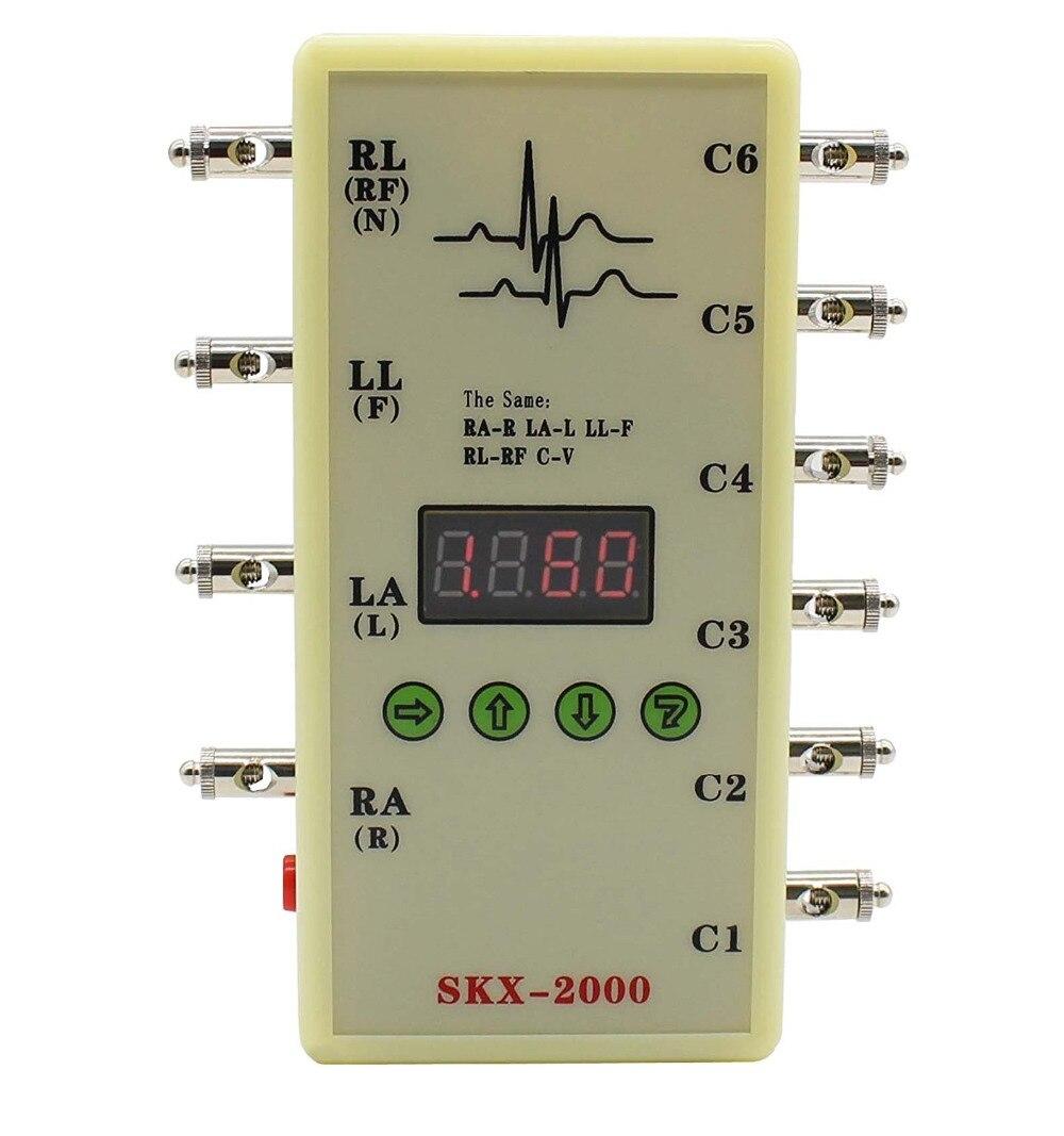 SKX-2000D ECG Signal Generator ECG Simulator with Respiratory Wave Function skx 2000c ecg simulator ecg signal simulator signal generator 10 200bpm