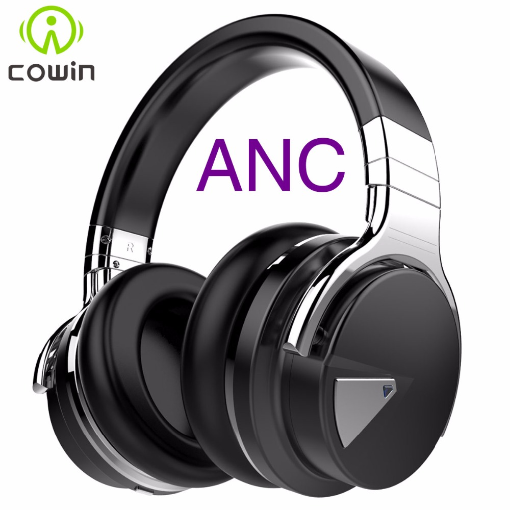 Cowin E-7 ANC Bluetooth Headphone NFC Wireless Bluetooth Headset Active Noise Cancelling Headphones For Cellphone Smart TV e 3lue ebt922 nfc bluetooth headset black