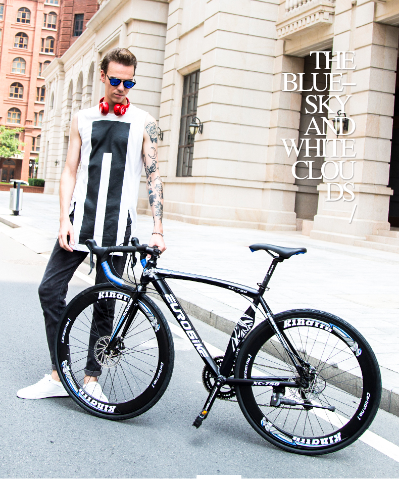 New Road Bike 14/16 sürətli 700C * 52cm velosiped Alüminium - Velosiped sürün - Fotoqrafiya 2
