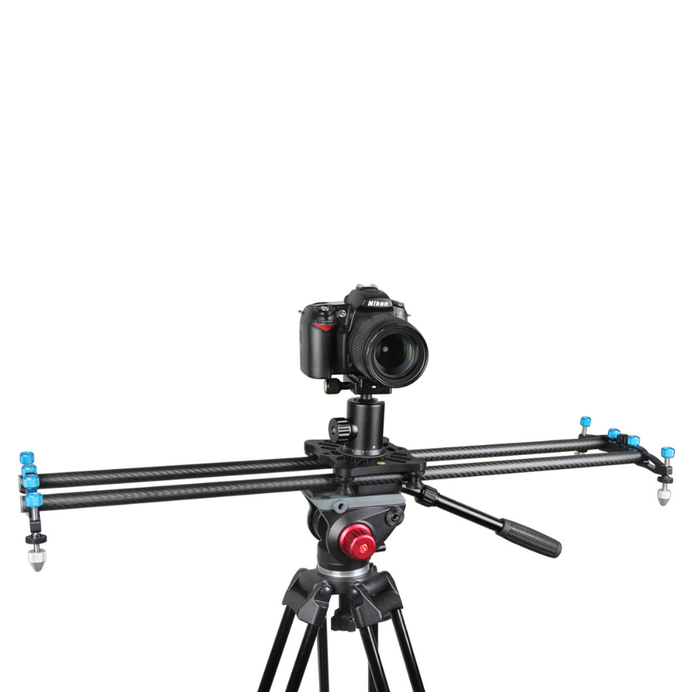 New 80CM Carbon Fiber Portable DSLR Video Camera Track Slider Dolly Stabilizer for Canon Nikon Sony DSLR DV Camera