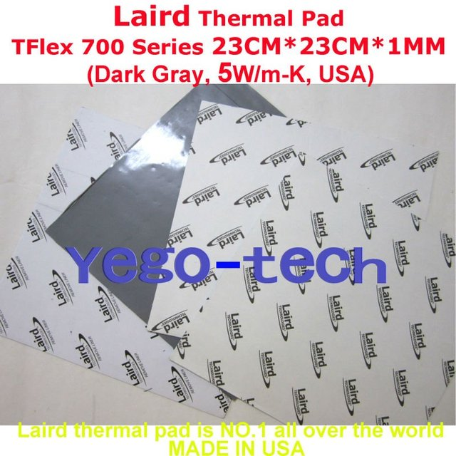 Free Shipping + Best Thermal Silicon Pad 23CM*23CM*1MM, Tflex 700 Series Gap Filler Material, Made In USA