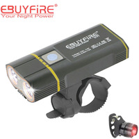 Bicycle Light 6000lm 2x XML L2 LED Cycling Lights USB Rechargeable 6000mAh bicicleta Wheel Bike Front Light taillight