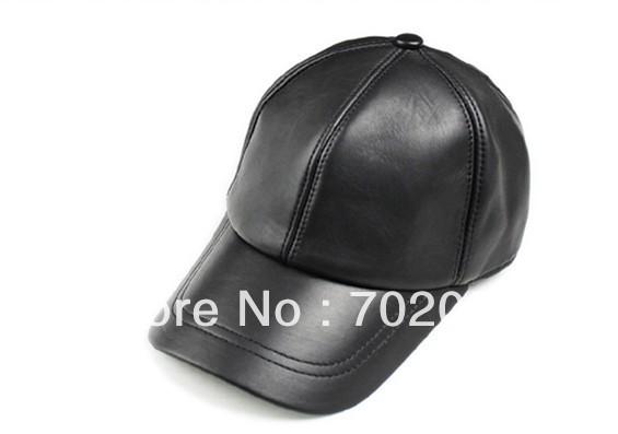 Moda unissex boné de beisebol de couro real bola de pele de carneiro couro elegante bola de beisebol chapéus # 3096