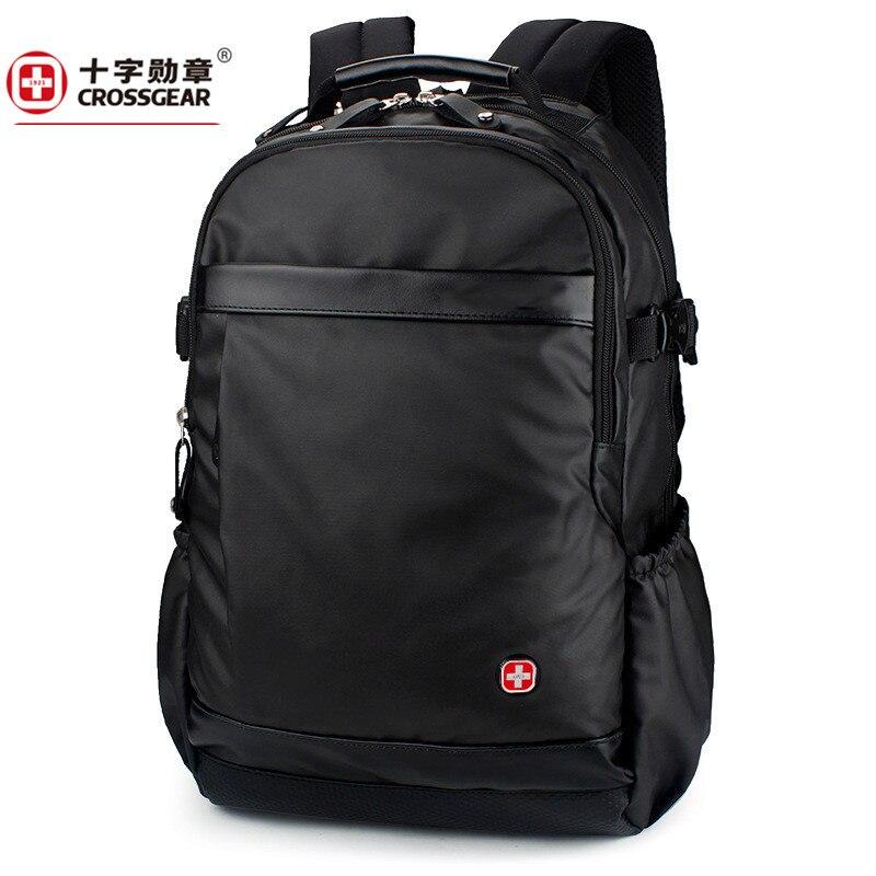 men leather large capacity 1680D Oxford travel waterproof laptop 17inch backpack travel bag school bags backpacks