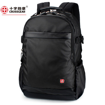 men leather large capacity 1680D Oxford travel waterproof laptop 17inch backpack travel bag school bags backpacks for teenagers