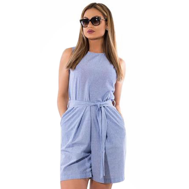 c133f5d955f20 2018 Summer rompers womens jumpsuit striped playsuit 5XL 6XL plus size  jumpsuit shorts overalls for women ...