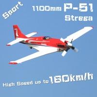 RC Airplane Plane 1100mm 1.1m P 51 P51 Strega 6CH 4S High Speed Racing Sports EPO Scale Model Aircraft Aeromodelo Avion FMS