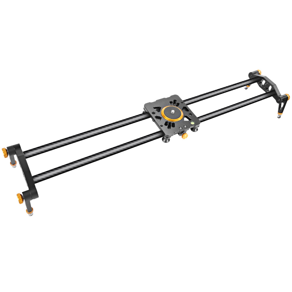 Neewer 39.4 inches/100 cm Carbon Fiber Camera Track Slider Video Stabilizer Rail with 6 Bearings for Canon/Nikon/Camera DV Video