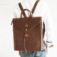 Designer Women Men's Backpack Crazy horse Leather Shoulder Bag Vintage Laptop backpack Classic School Travel Crossbody bags L186