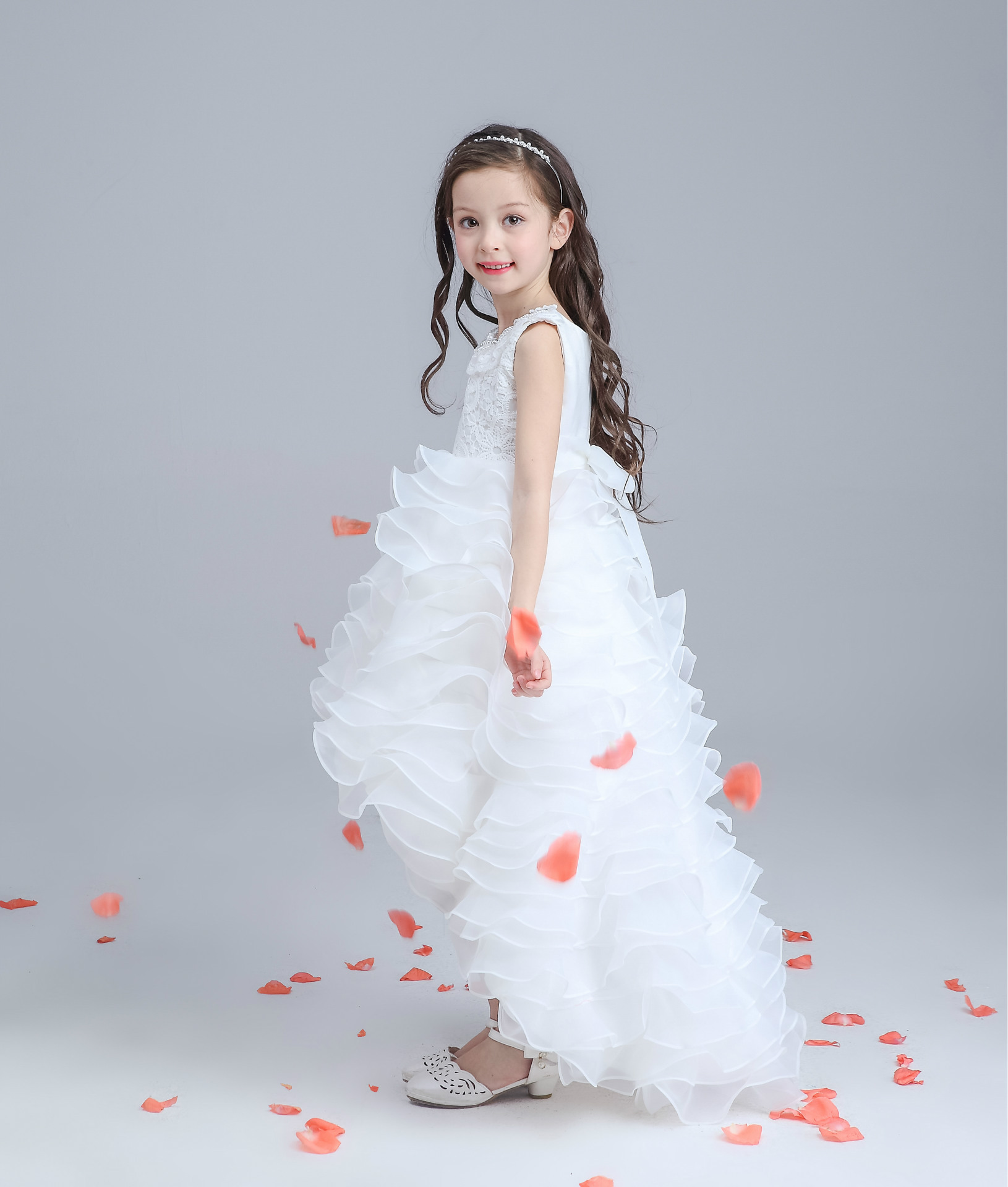 Princess Flower Girl Dress for Wedding and Party Bridesmaid Kids Bow ...
