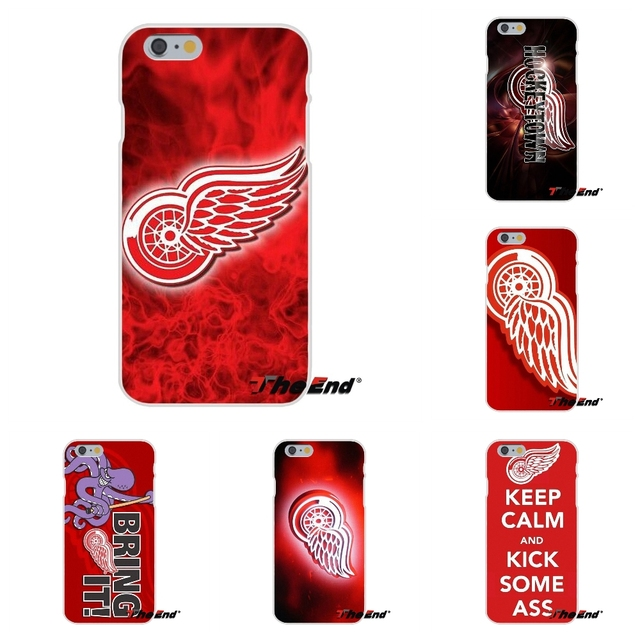 Hockey Detroit Red Wings Logo Soft Silicone Case For iPhone X 4 4S 5 5S 5C SE 6 6S 7 8 Plus Galaxy Grand Core Prime Alpha