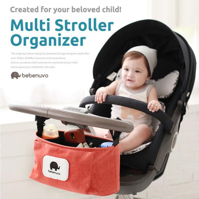 Cochecito de bebé Colgando Multiplicar Propósito Uesd Organizador Cochecito de Artículos Varios de Alta Capacidad Colgando Colector de Cuatro Colores Disponibles