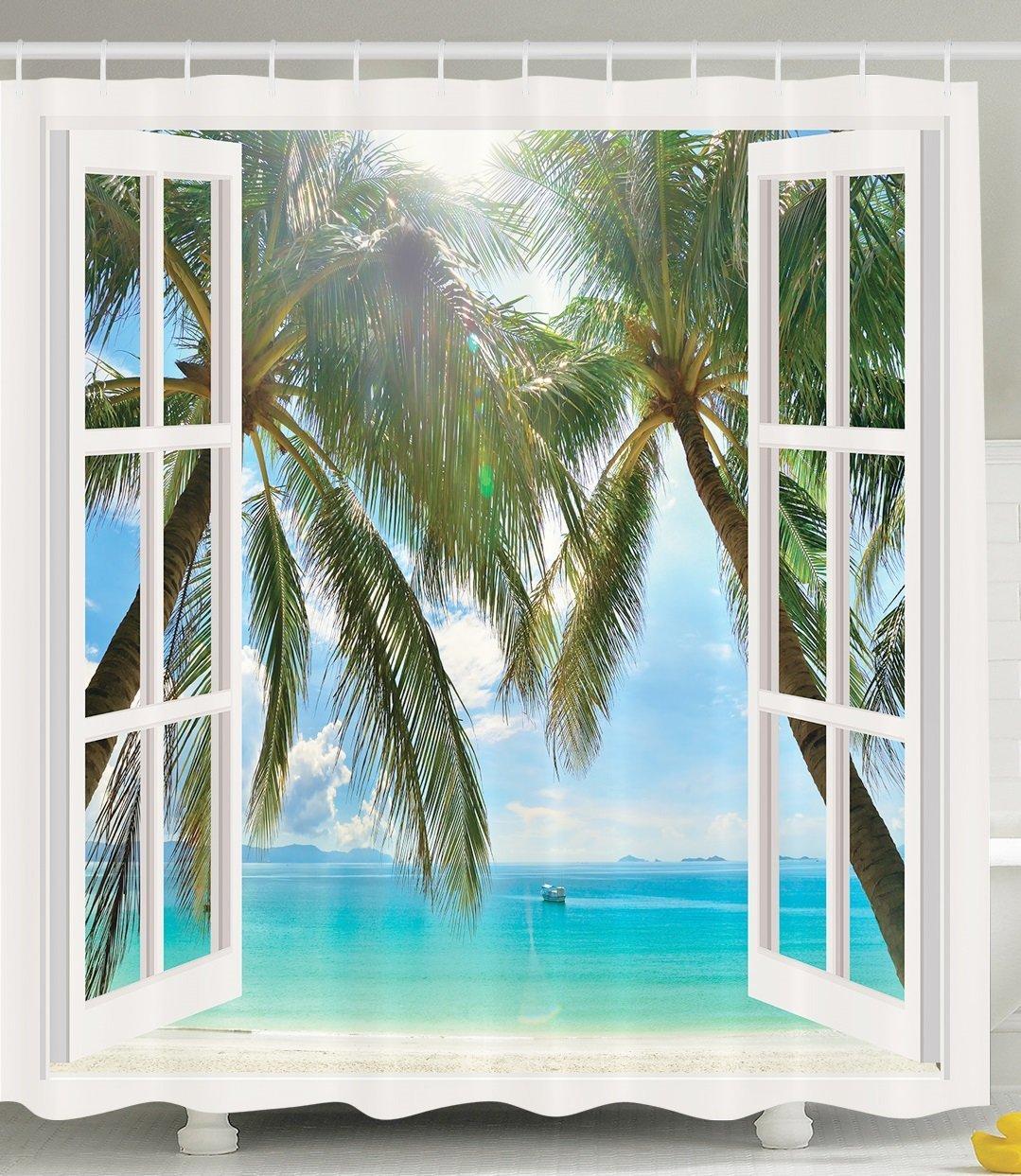 ocean decor palm tree tropical island