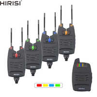 1+4 Carp Fishing Alarm Set Sounds and LED Alarming Wireless Fishing Bite Alarm Indicator Electronic with Snag Ear Bar B1228