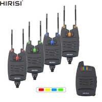 1 + 4 carpa juego de alarma para pesca sonidos y LED alarma inalámbrica de pesca alarma Indicador electrónico con barra de oreja de enganche B1228