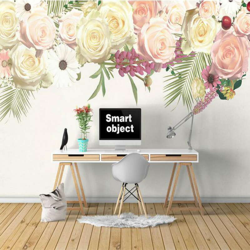 Commission 3d Wallpaper for Living Room Home Improvement  Modern Background Wall Painting Mural Beautiful Rose  Wallpaper 5v 0 55a cpu computer notebook cooling fan 3 pins for msi ge70 ms 1756 ms 1757 laptop paad06015sl n285 new cooler fan for msi