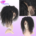 7A Glueless Llena Del Cordón Pelucas de Pelo Humano Para Las Mujeres Negras Brasileñas Rizada rizada Peluca Llena Del Cordón Virginal Del Pelo Afro Rizado rizado pelucas