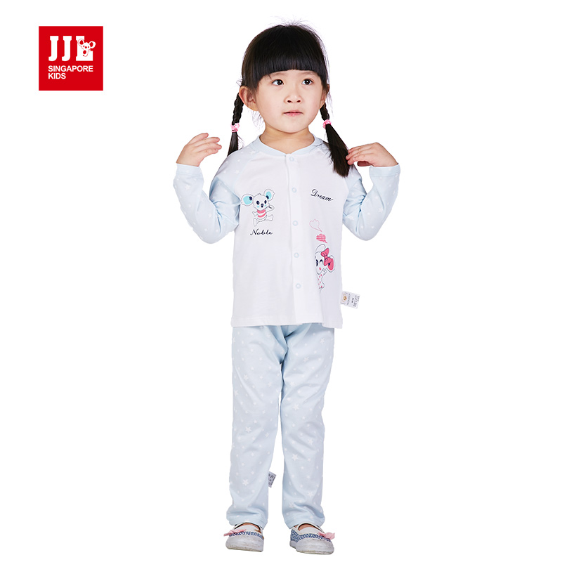 baby sets girls pajamas suit single breasted coat pants 2 pc outfits underwear clothing set 100