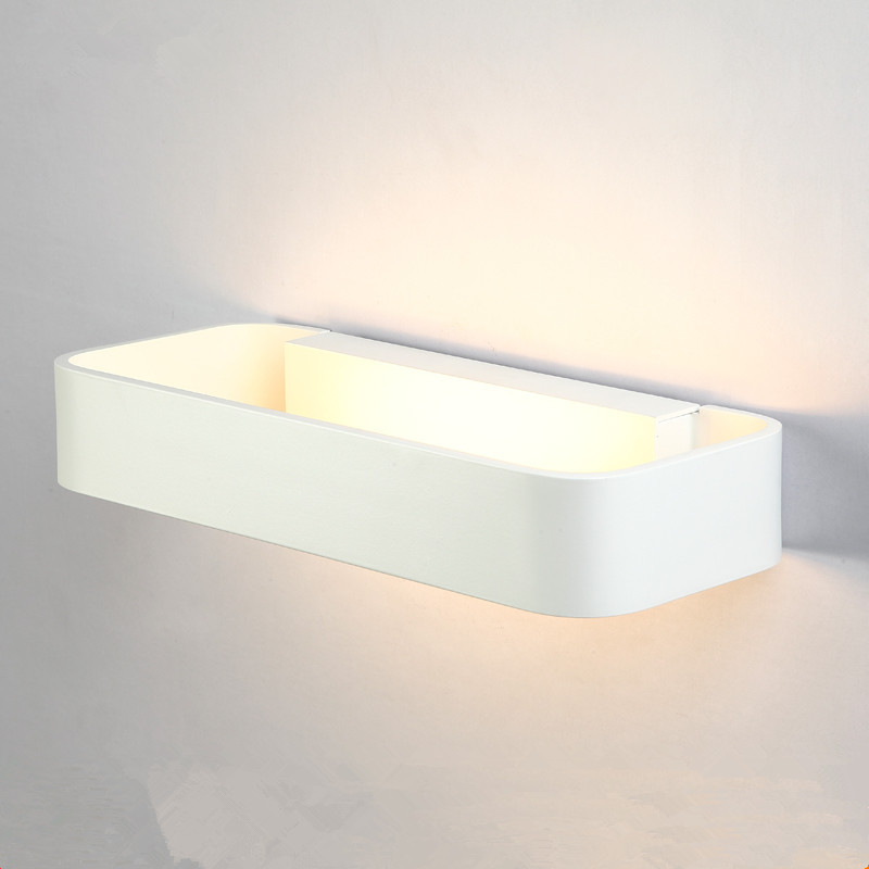 Aluminum LED Wall Lamps Modern Wall Sconce Lustre White Black Gray Golden Wall Lights Bedside Aisle Stair Balcony Study Lighting
