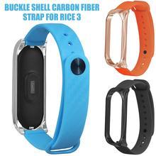 For Mi 3 Smart BraceletBand Carbon Fiber Replacement Wristwatch Strap Xiaomi Wirstband